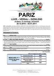 PARIZ LUVR – VERSAJ – DIZNILEND 6 dana / 5 noćenja, avionom ...