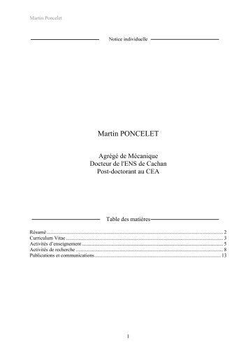 Martin PONCELET