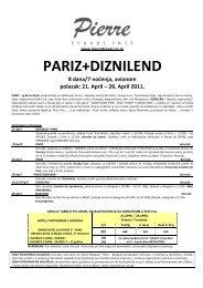 Odštampajte aranžman Pariz + Diznilend u .PDF ... - Pierretravel.co.rs