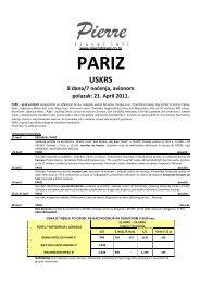 Odštampajte aranžman Pariz, Uskrs 8 dana u .PDF - Pierretravel.co.rs