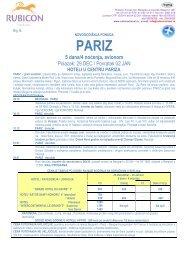 Pariz - Rubicon travel