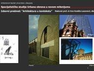Arhitektura u kontekstu - Arhitektonski fakultet