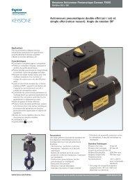 Actionneurs pneumatiques double effet (air / air) et simple effet ...