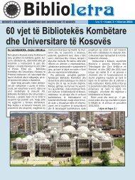 60 vjet të Bibliotekës Kombëtare dhe Universitare të Kosovës