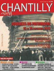 DOSSIER JOURNÉES DU PATRIMOINE - Ville de Chantilly