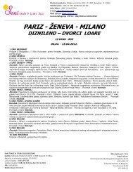 PARIZ - ŽENEVA - MILANO - Sani trade & tours