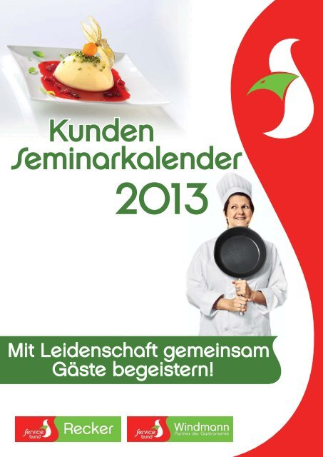 seminarkalender 2013.indd - Recker Feinkost GmbH