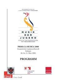 PRIMA LA MUSICA 2008 - Tiroler Musikschulwerk
