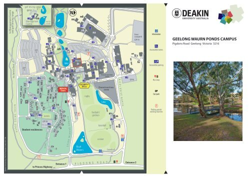 Deakin Waurn Ponds Map Geelong Waurn Ponds Campus map   Deakin University