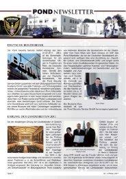 DEUTSCHE BUNDESBANK - bei POND Security Service GmbH