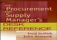 [+]The best book of the month The Procurement and Supply Manager s Desk Reference  [FREE]