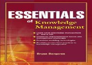 [+]The best book of the month Essentials of Knowledge Management (Essentials Series) [PDF]