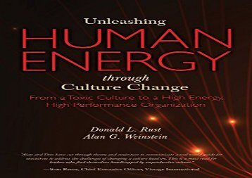 [+]The best book of the month Unleashing Human Energy: From a Toxic Culture to a High Energy, High Performance Organization  [FREE]