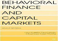 [+]The best book of the month Behavioral Finance and Capital Markets: How Psychology Influences Investors and Corporations  [READ]