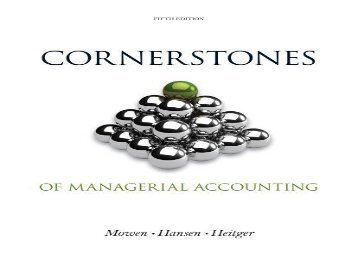 [+][PDF] TOP TREND Cornerstones of Managerial Accounting  [FREE]