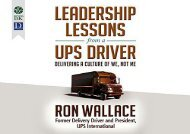 [+]The best book of the month Leadership Lessons from a UPS Driver: Delivering a Culture of We, Not Me  [FREE]