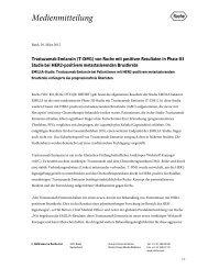 Trastuzumab Emtansin (T-DM1) von Roche mit positiven Resultaten ...
