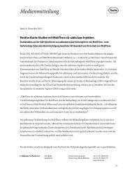 Positive Roche-Studien mit MabThera als subkutane Injektion