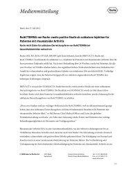 RoACTEMRA von Roche: zweite positive Studie als subkutane ...