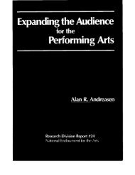 for Each Performing Art by Stage in Model - National Endowment for ...
