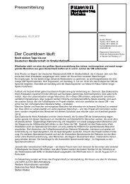 PM_110701_Der Countdown laeuft - Diakonisches Werk Hessen ...