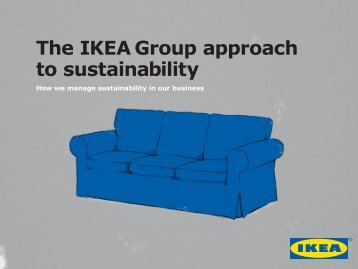 The IKEA Group approach to sustainability