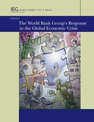 The World Bank Group's Response to the Global ... - IEG - World Bank