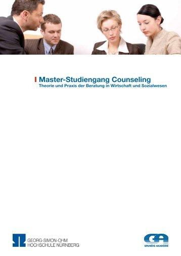 I Master-Studiengang Counseling - Seminarmarkt