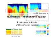 Nukleation: Theorien und Realität