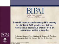 Post-18 month confirmatory HIV testing in HIV DNA PCR positive ...