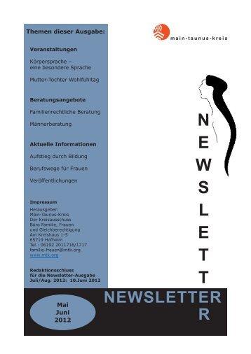 newsletter r n e w s l e t t - Main-Taunus-Kreis