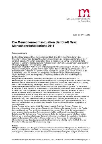 Die Menschenrechtssituation der Stadt Graz ... - ETC Graz