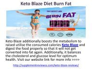 Keto Blaze Diet Weight Loss
