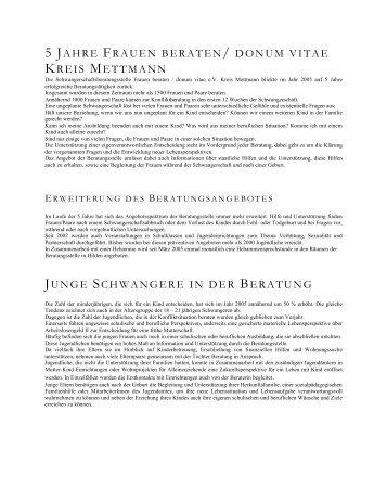 Jahresbericht 2005 - donum vitae eV