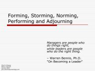 Forming, Norming, Storming, Performing - Niwot Ridge Consulting