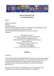 Newsletter 2, August 2012 - Deutsche Gesellschaft für Positive und ...