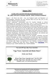 Veranstaltungen AKJF 2012 - 2. Kongress Denk und Handlungsräume