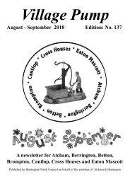 Berrington Village Pump Edition 137 (Aug - Sep 2018)