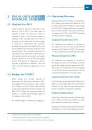 2 fiscal outlook for financial year 2012 - Ministry of Finance