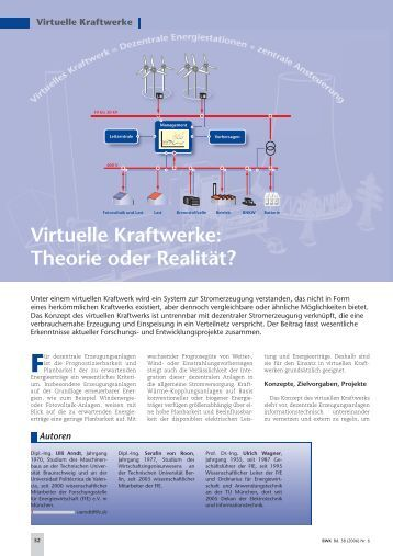 Virtuelle Kraftwerke: Theorie oder Realität? - Nun