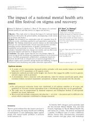 The impact of a national mental health arts and film festival on ...