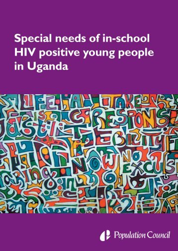 Special needs of in-school HIV positive young people in Uganda