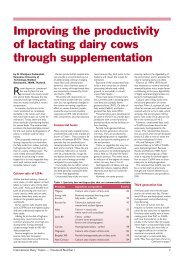 Improving the productivity of lactating dairy cows through ...