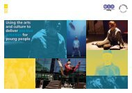 Using the arts and culture to deliver positive activities for young people