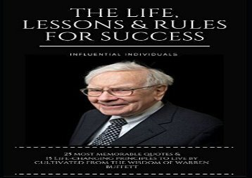 [+]The best book of the month Warren Buffett: The Life, Lessons   Rules For Success  [FREE]