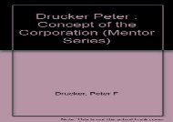 [+][PDF] TOP TREND Drucker Peter : Concept of the Corporation (Mentor Series)  [READ]