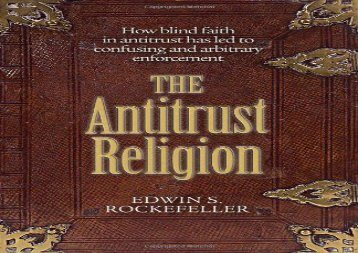 [+][PDF] TOP TREND The Antitrust Religion  [FREE]