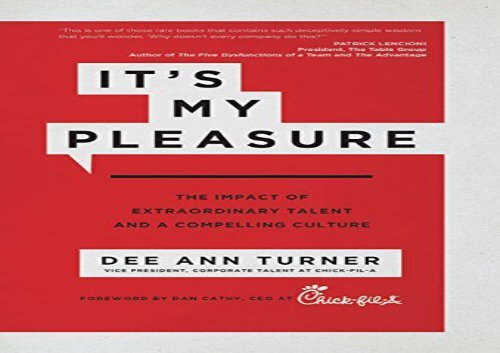 [+][PDF] TOP TREND It s My Pleasure: The Impact of Extraordinary Talent and a Compelling Culture  [FREE]