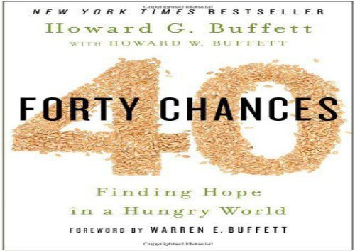 [+]The best book of the month 40 Chances: Finding Hope in a Hungry World [PDF]