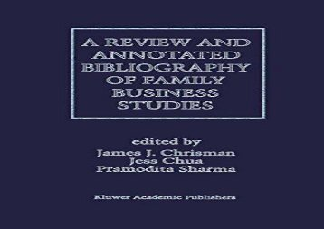 [+]The best book of the month A Review and Annotated Bibliography of Family Business Studies  [NEWS]